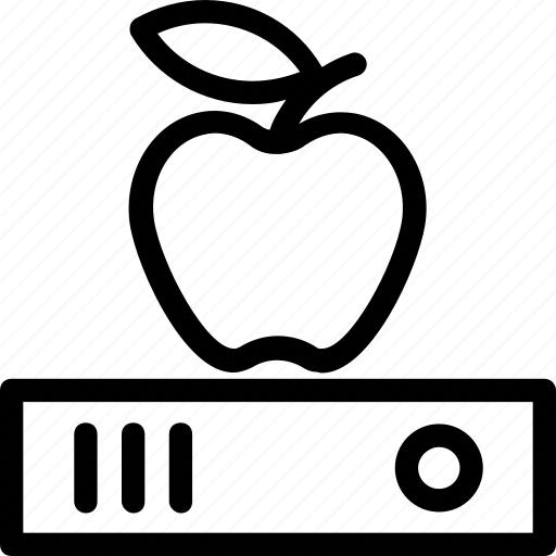 apple, diet, files, stationery, study icon