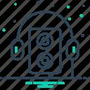 music, sound, walkman icon