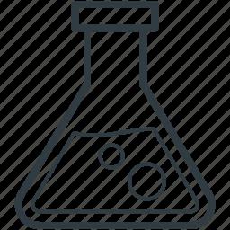 beaker, chemical, flask, lab test, test tube icon