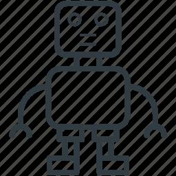 automaton, bionic robot, mechanical man, robot, robotic machine icon