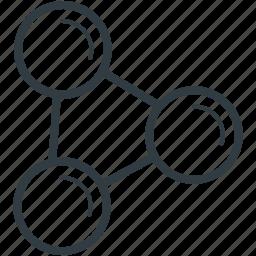 biology, cells, fabrication, molecular configuration, molecular structure icon