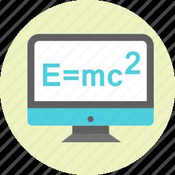 einstein, emc2, energy, formula, mass, physics icon