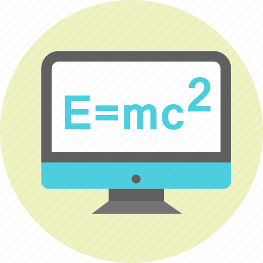 einstein, emc2, energy, formula, mass, physics icon