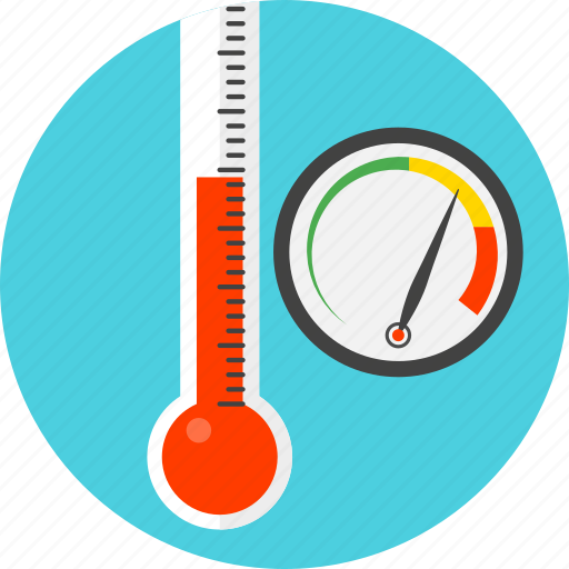 gauge, measurer, meter, temperature, test, thermometer icon
