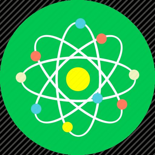 atom, energy, laboratory, negative energy, physics, positive energy icon
