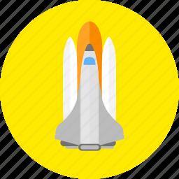 racket, rocket, spacecraft, squib icon