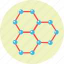 atoms, connection, molecule, science, structure icon
