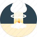 attack, bomb, destructive, explosion, force, nuclear, radiation icon