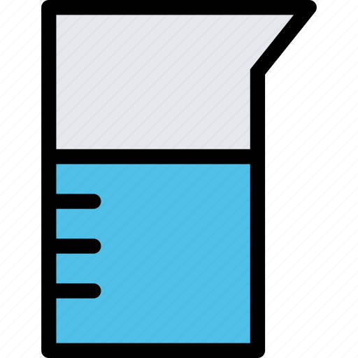 beaker, chemistry, physics, science, study, university icon