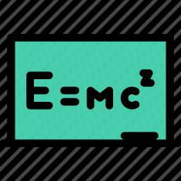 board, chemistry, physics, science, study, university icon