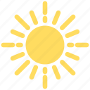 intelligence, knowledge, learning, literature, mathematics, sun icon
