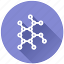 analysis, atom, chemical, chemistry, education, graph, hierarchy, laboratory, measure, medical, molecule, object, pharmacy, project, research, science, structure, technology, virus icon