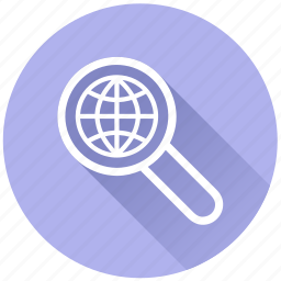 analysis, audit, binoculars, browser, earth, explore, explore world, explorer, find, glass, global, global search, globe, internet, look, magnifier, magnify, magnifying glass, map, navigation, people, place, planet, research, scan, search, seo, sphere, tool, travel, view, world, zoom icon