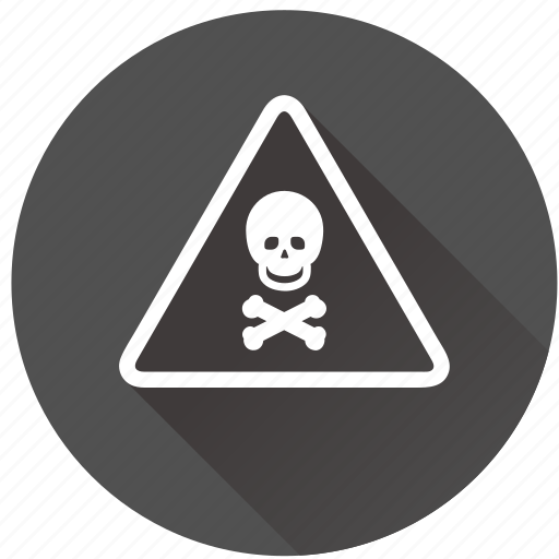 alarm, alert, attention, caution, chemical, chemistry, danger, dead, death, devil, doctor, emergency, environment, error, exclamation, hazard, health, medical, medicine, pirate, poison, risk, safe, safety, science, skull, toxic, warning icon