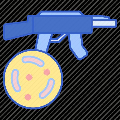bio, gun, weapon icon