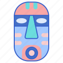 ethnology, mask, natives icon