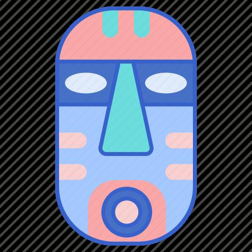 ethnology, mask, natives icon