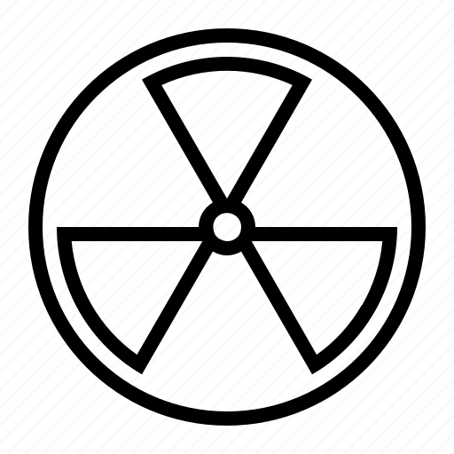 atom, bomb, chemical, danger, nuclear icon