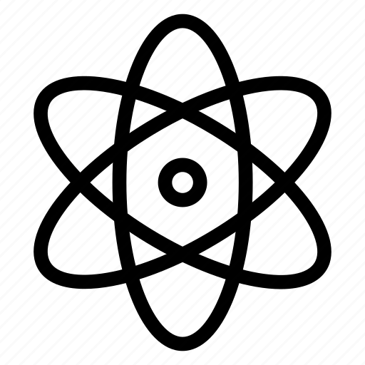 atoms, electrons, molecule, protons icon