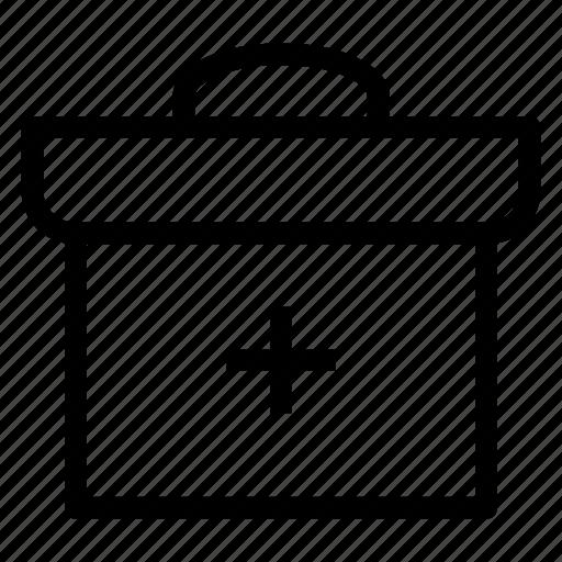 bag, box, kit, medical icon