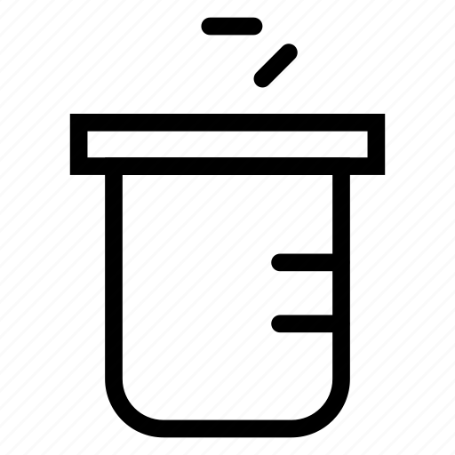 beaker, flask, lab, test icon