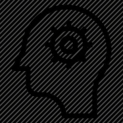brain, control, mind, setting icon
