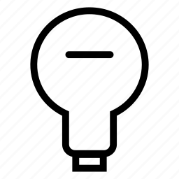 bright, bulb, light, remove icon