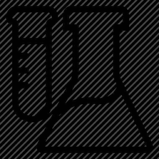 beaker, flask, test, tube icon