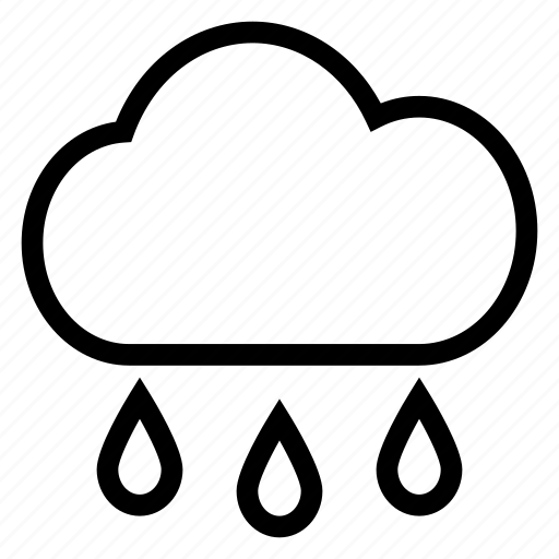 cloud, rain, water, weather icon