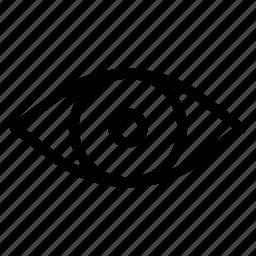 eye, eyeball, seen, view icon