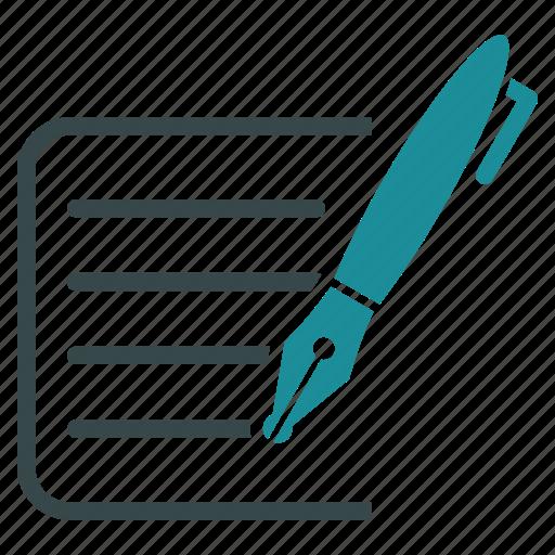 article, edit, esse, pen, roman, text, write icon