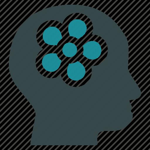 brain, education, head, idea, lamp, mind, think icon