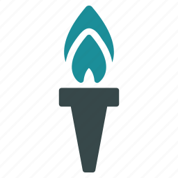 fire, flame, liberty, light, peace, success, torch icon