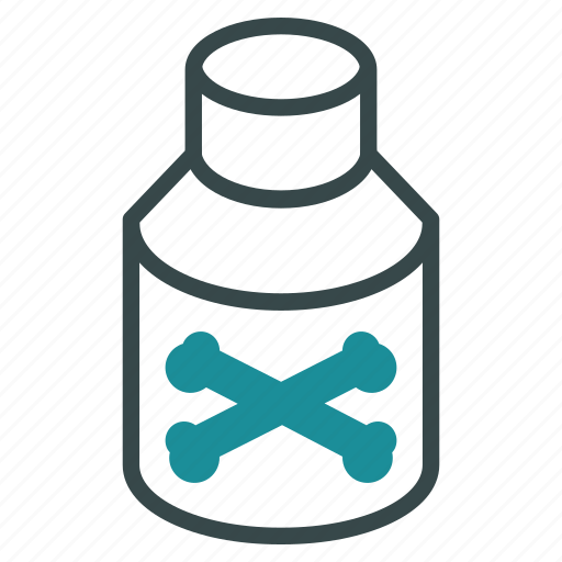 bottle, chemistry, medical, medicine, phial, poison, toxic icon