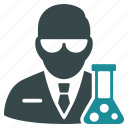chemical, chemistry, flask, laboratory, research, science, scientist icon