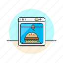burger, design, food, machine, printer, science, technology icon