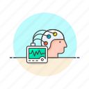 brainwave, experiment, human, monitor, reader, research, science, technology icon