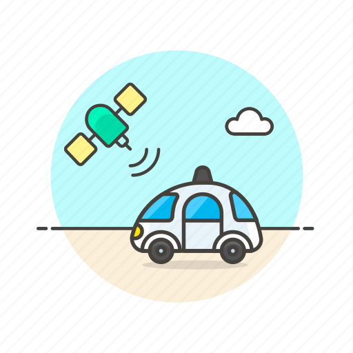car, follow, satellite, science, technology, track, vehicle icon