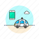 car, device, science, smart, technology icon