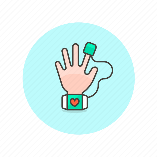 hand, heart, measure, rate, reader, science, technology icon