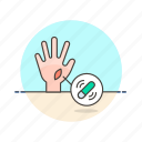 device, gadget, hand, implant, microchip, science, technology icon