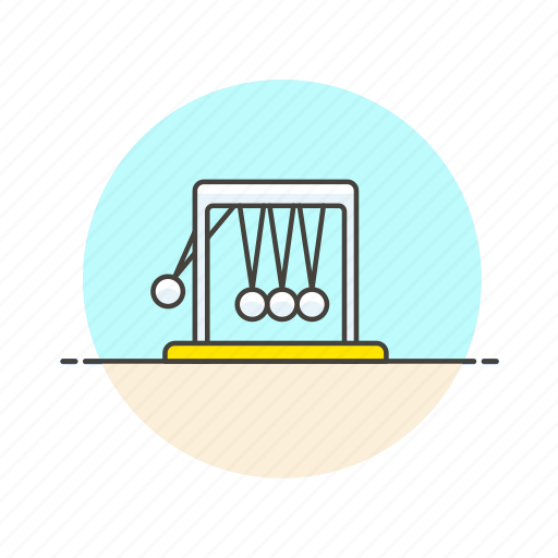 cradle, learn, mechanism, newton, physics, science, technology icon