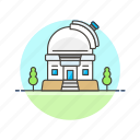 gazing, observatory, science, star, technology icon