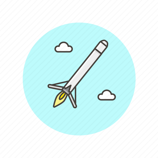 Science, technology, rocket, fly, mission, research icon - Download