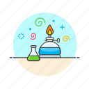 chemistry, experiment, fire, flask, lab, research, science, technology icon