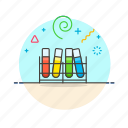 lab, rack, rainbow, science, technology, test, tube icon