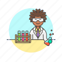 scientist, technology, chemistry, experiment, flask, laboratory, woman