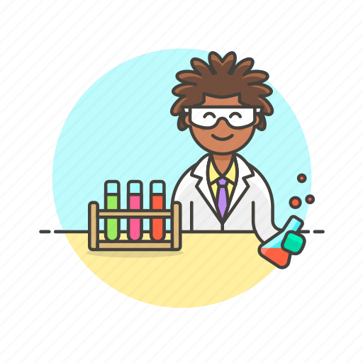 chemistry, experiment, flask, laboratory, scientist, technology, woman icon