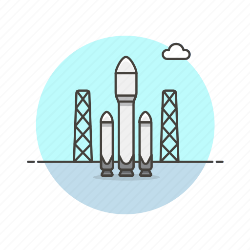 booster, launch, part, rocket, science, space, technology icon