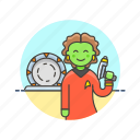 alien, science, star, technology, trek icon